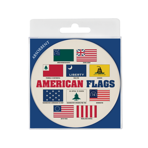American Flags Absorbent Coaster DA-001-020