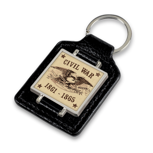 Civil War Faux Leather Keychain