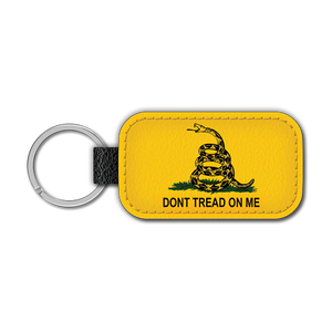 Don't Tread on Me Split Leather Keychain