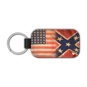 Civil War Split Leather Keychain