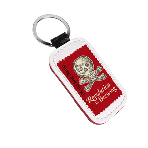 Revolution Is Brewing Split Leather Keychain  KC-001-030