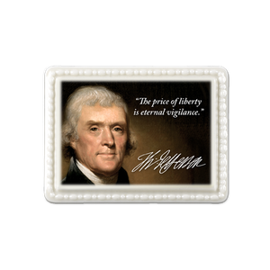 Thomas Jefferson Porcelain Magnet