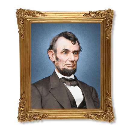 Abraham Lincoln Resin Frame Magnet