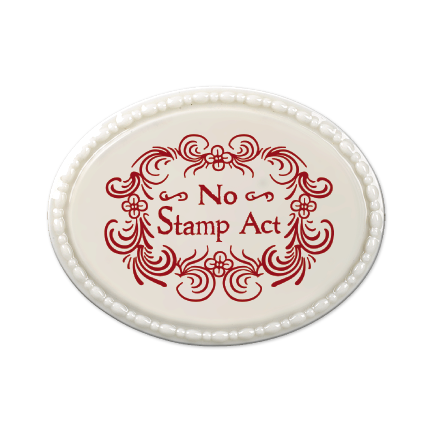 No Stamp Act Oval Magnet