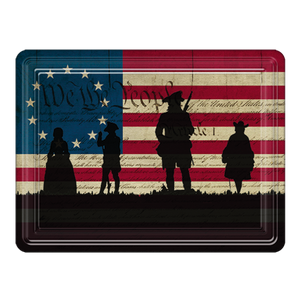 We the People Silhouette PVC Magnet