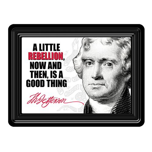 Thomas Jefferson Quote PVC Magnet MG-001-118