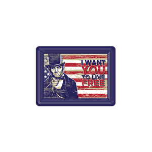 "Abraham Lincoln ""I Want You"" PVC Magnet MG-001-126"