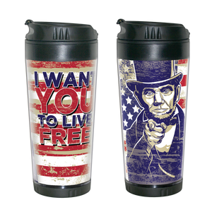 "Abraham Lincoln ""I Want You"" Travel Mug  MO-001-015"