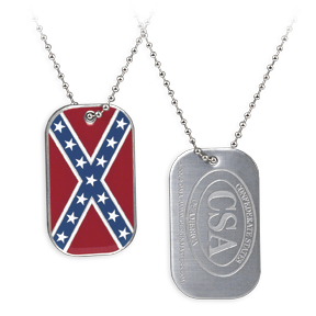 Confederate Flag Dog Tag