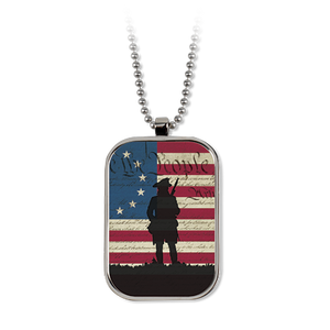 We the People Silhouette Dog Tag