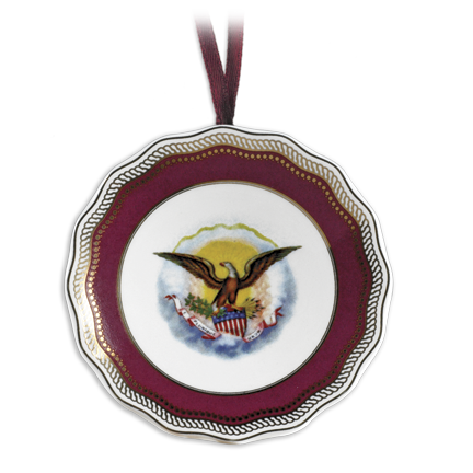 Lincoln China Porcelain Plate Ornament