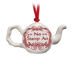 No Stamp Act Tea Pot Ornament