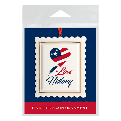 I Love History! Scalloped Ornament  OD-001-021