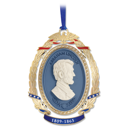 Lincoln Cameo Ornament