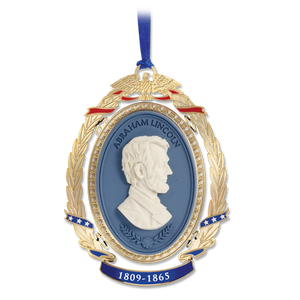 Lincoln Cameo Ornament  OE-001-036