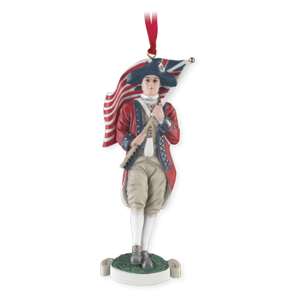 Colonial Flag Bearer Ornament
