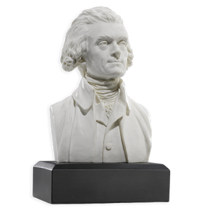 6 Inch Thomas Jefferson Bust (White)