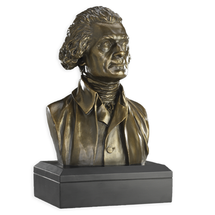 6 Inch Thomas Jefferson Bust (Bronze)