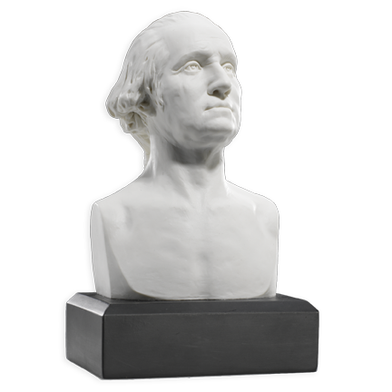 6 Inch George Washington Bust (White)