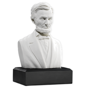 6 Inch Abraham Lincoln Bust (White)