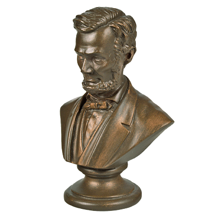 Mini Lincoln 3 inch Bronze Bust
