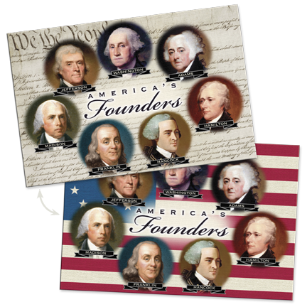 Founding Fathers Lenticular Postcard