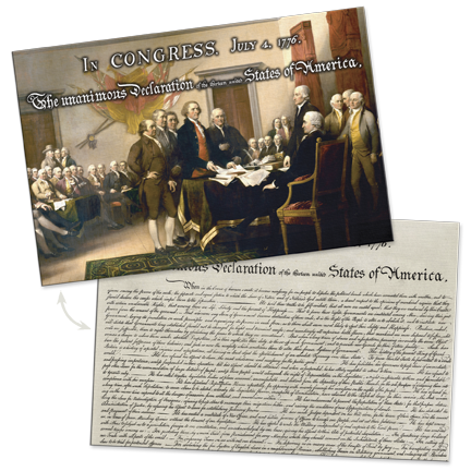 Declaration of Independence Lenticular Postcard