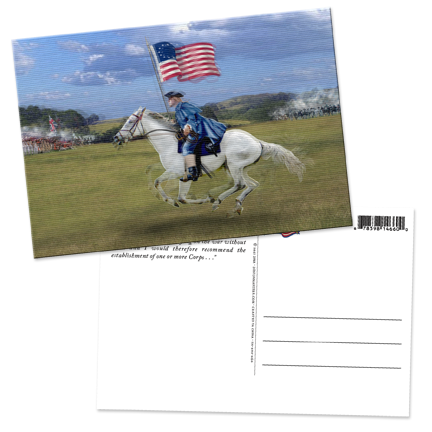 Revolutionary War Solider Lenticular Postcard