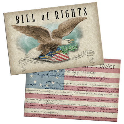 Bill of Rights Lenticular Postcard