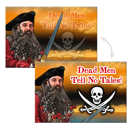 Pirate Postcard Dead Men Tell No Tales SN-001-085