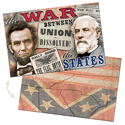 War Between the States Lenticular Postcard