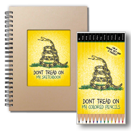 Don't Tread on Me Pencil Set