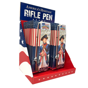 Counter Display with 48 Revolutionary War Rifle Pens  SN-001-101