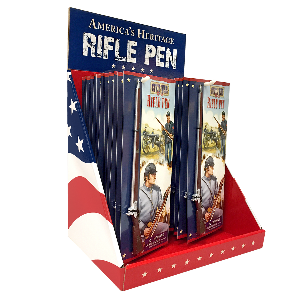 Counter Display with 48 Civil War Rifle Pens  SN-001-102