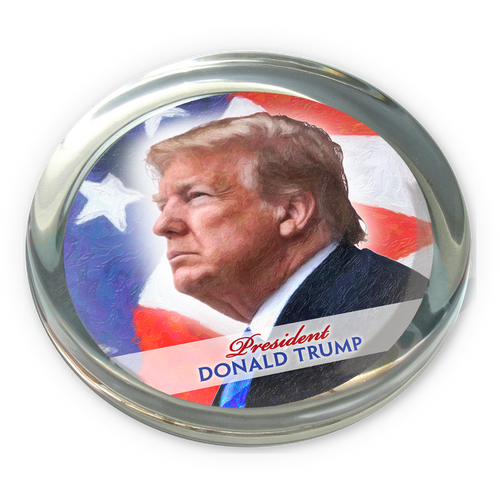 President Donald Trump Paperweight SN-001-104