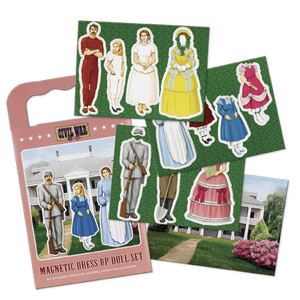 Confederate Family Magnetic Dress Up Doll Kit