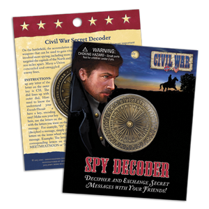 Civil War Secret Message Spy Decoder