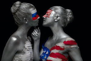 Russia and America Kissing