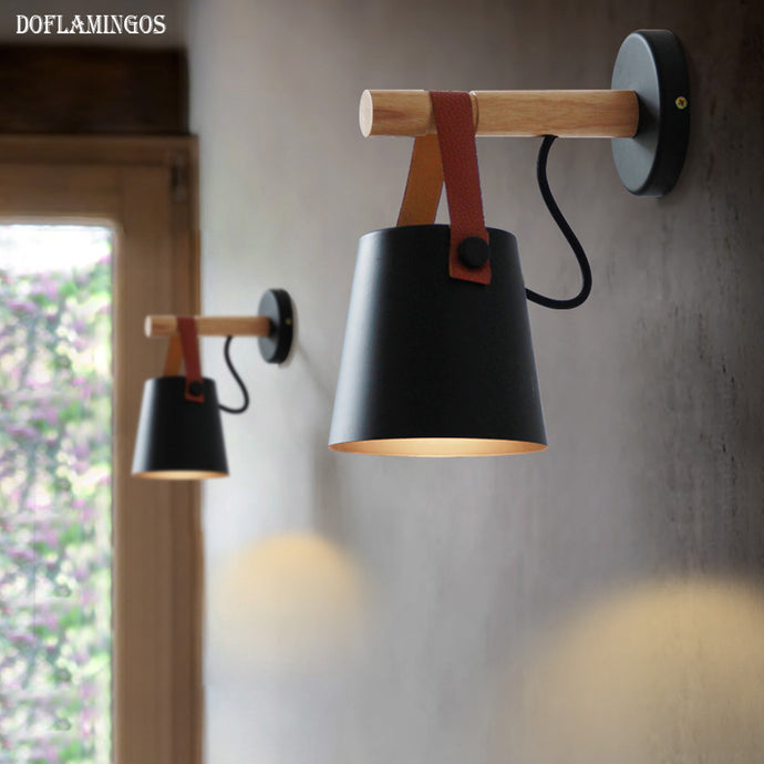 Leather Belt Wall Lamps