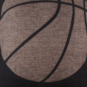 Black Basketball Burlap Pillowcase