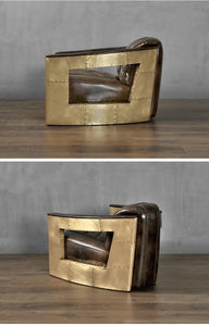 Auto Club Golden Brass Lounge Chair