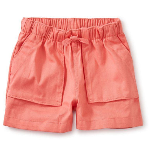 Tea Collection Sporty Camp Shorts (Sunset Pink) - hip-kid
