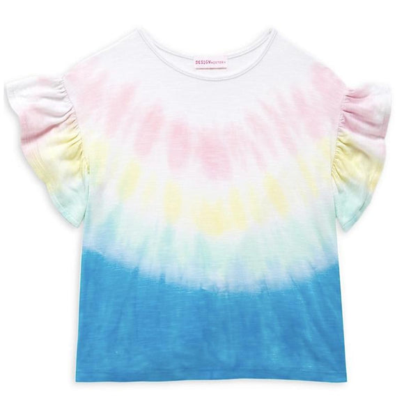 Design History Tie Dye Ruffle T-Shirt - hip-kid