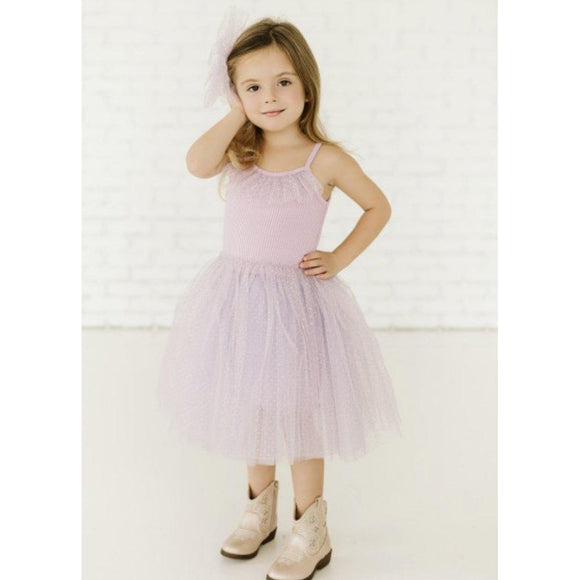 Petite Hailey Purple Dot Amy Tutu Dress - hip-kid