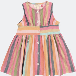 Pink Chicken Birdie  Multistripe - hip-kid