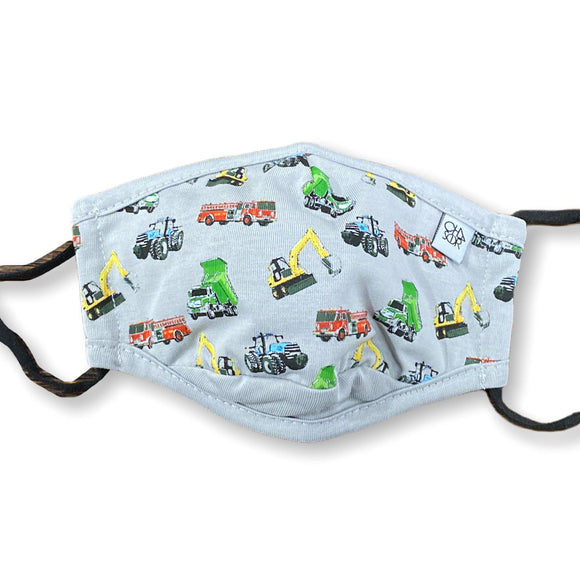 Chaser Kids Face Mask - Work Trucks - hip-kid