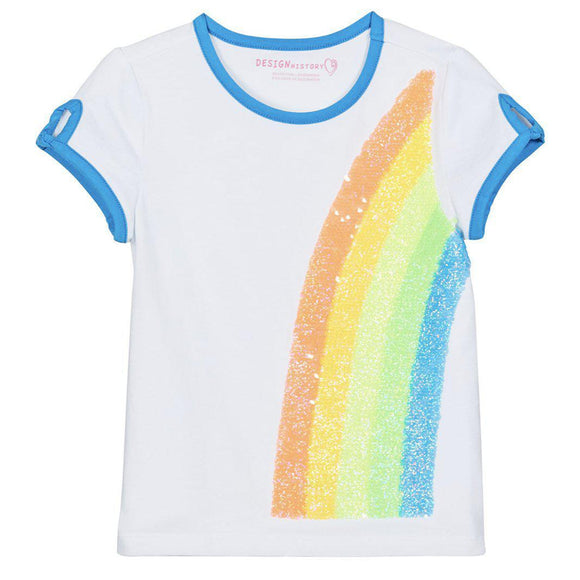 Design History Rainbow Sequin Tee - hip-kid