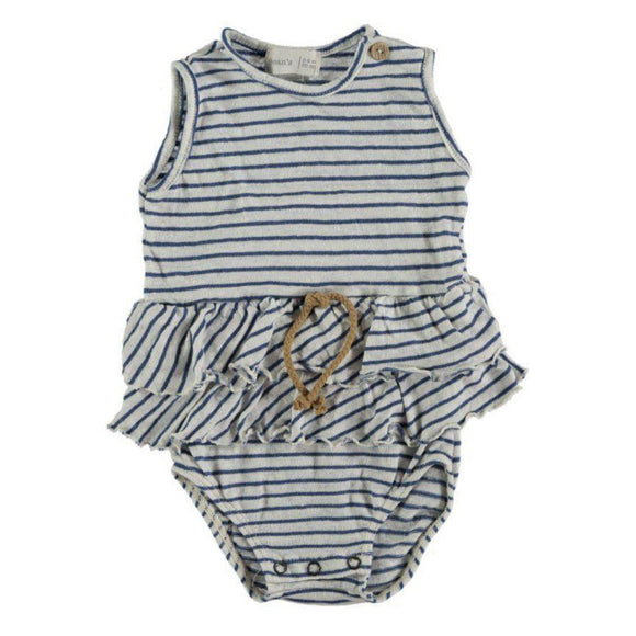 Beans Striped Cotton-Linen Body (Blue)-BEANS-hip-kid