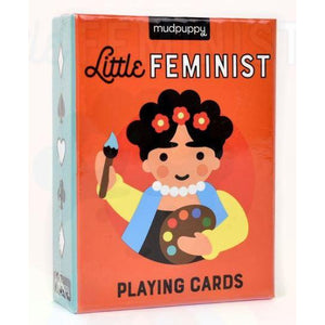 -------- hip kid -------- mudpuppy little feminist playing cards