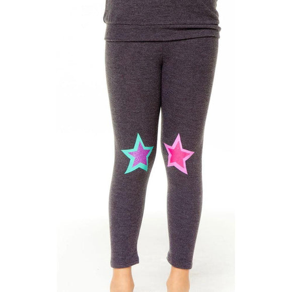 Chaser Cozy Legging - Glitter Star-CHASER-hip-kid